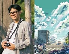 Nam sinh phác họa quê hương theo phong cách Anime đầy ấn tượng