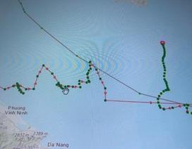 Tàu cá báo hướng di chuyển khác thường rồi mất liên lạc nhiều ngày