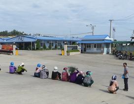 Bức xúc vì mùi khét, người dân lại chặn cổng Hòa Phát Dung Quất