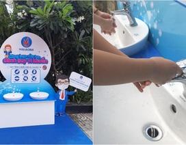 Viglacera lắp đặt 10 trạm rửa tay tại các trường học trên địa bàn TP. Hồ Chí Minh