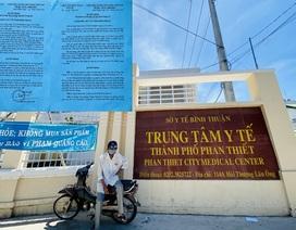 """Vụ """"rút ruột"""" 5,4 tỷ đồng: Cách chức lãnh đạo Trung tâm Y tế TP Phan Thiết"""