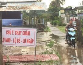 Dựng biển cảnh báo đường ngập, dân bị xã mời lên làm việc