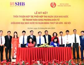 Kho bạc Nhà nước và SHB hợp tác phối hợp thu ngân sách nhà nước