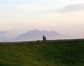 Phong cảnh bình yên nhìn từ những triền đê ở Hà Nội