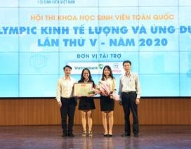 """Lộ diện SV đoạt giải đặc biệt hội thi """"Olympic kinh tế lượng và ứng dụng"""""""