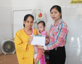 Hơn 55 triệu đồng đến với bé 13 tháng tuổi bị hẹp phế quản bẩm sinh