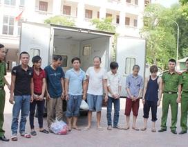 Bắt 8 đối tượng trốn truy nã ở các tỉnh phía Nam