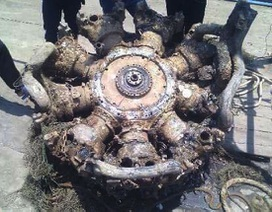 Phát hiện khối kim loại nghi là động cơ máy bay ở vùng biển Nghệ An