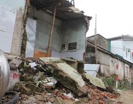 Thi công gây sụt lún, nứt nhà, hàng chục hộ dân sống bất an