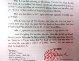 Giám đốc Đài Phát thanh - Truyền hình Thái Bình bị đình chỉ công tác