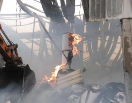 Cận cảnh đống tro tàn sau vụ cháy dữ dội tại nhà máy giấy