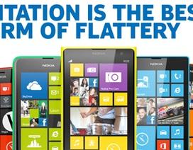 """iPhone 5C nhiều màu sắc vừa ra mắt, Nokia """"đá đểu"""" Apple bắt chước"""