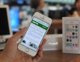 iPhone 5S màu vàng về Việt Nam, chưa có thông tin giá bán