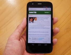 Cận cảnh smartphone giá rẻ Moto G tại Việt Nam