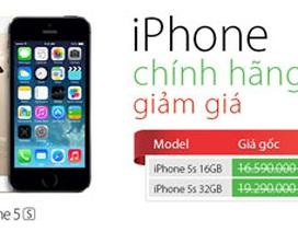 iPhone 5S chính hãng giảm giá kỷ lục, xuống còn 15 triệu đồng
