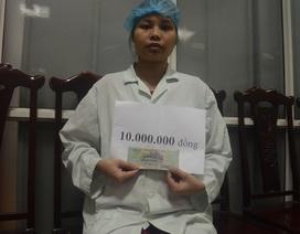 Quỹ Nhân ái hỗ trợ 10 triệu đồng đến bé 44 ngày tuổi bị bỏng than