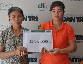 Tiếp tục trao hơn 127 triệu đến gia đình vụ cháy chợ Phùng Khoang