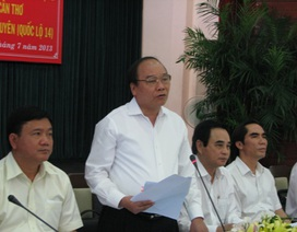 Phó Thủ tướng thúc tiến độ dự án mở rộng QL1A và QL14