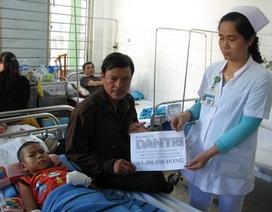 Hơn 64 triệu tới cháu bé bị mất cả hai tay, dập nát hai chân