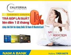 Trả góp lãi suất 0% tại California Fitness & Yoga