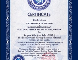 Truyện Kiều của Nguyễn Du xác lập Kỷ lục Thế giới