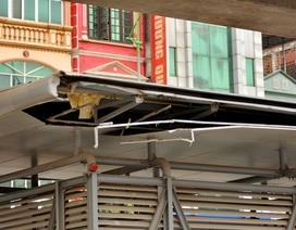 """Hà Nội: Nhà chờ xe buýt nhanh """"5 sao"""" chưa sử dụng đã xuống cấp"""