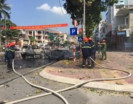 Video hiện trường vụ nổ xe taxi kinh hoàng ở Cẩm Phả