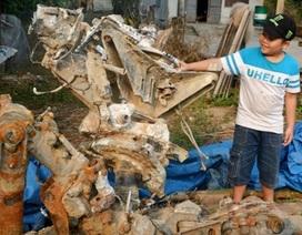 Đào được trục cánh quạt máy bay khi xây nhà