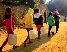 Vùng cao thiếu nước, nhiều trường bán trú gặp khó khăn