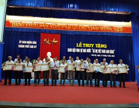 Truy tặng danh hiệu Bà mẹ Việt Nam Anh hùng với 103 Mẹ