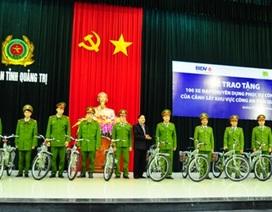 Lực lượng công an tiếp nhận 100 xe đạp tuần tra vào dịp Tết