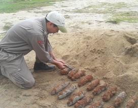 Phát hiện hơn 20 quả đạn pháo khi đào móng xây nhà