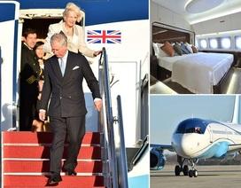 Bên trong chuyên cơ sang trọng đưa vợ chồng Thái tử Anh đến Mỹ