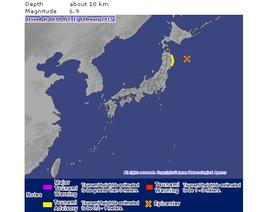 Sóng thần nhỏ tấn công Nhật Bản sau động đất 6,9 độ richter