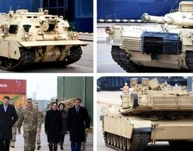 Mỹ điều hơn 120 xe bọc thép cùng NATO thị uy gần Nga