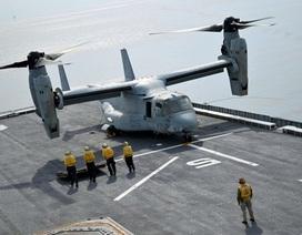"""""""Quái vật"""" Osprey của Mỹ lần đầu hạ cánh trên chiến hạm Hàn Quốc"""