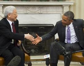 Video Tổng thống Hoa Kỳ tiếp Tổng Bí thư tại Nhà Trắng