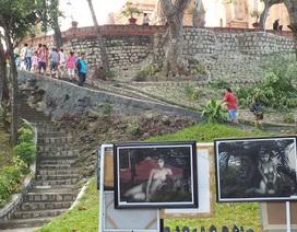 """Buộc ngừng bán tranh """"nhạy cảm"""" ở tháp bà Ponagar Nha Trang"""