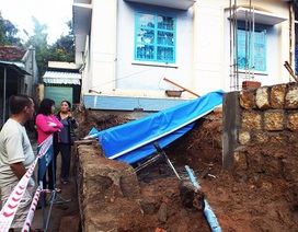 Tường trường mầm non đổ sập đè bẹp một người bán hàng rong