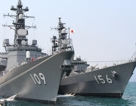 Hai tàu huấn luyện lực lượng tự vệ biển Nhật Bản thăm Cam Ranh
