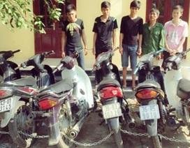Bắt băng nhóm gây ra hàng loạt vụ trộm cắp xe máy liên tỉnh