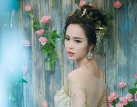 """""""Quyên"""" làm cô dâu kiêu sa trong BST 2015 của Lek Chi Bridal"""