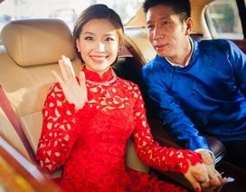 Chú rể Việt kiều đón á hậu Diễm Trang bằng siêu xe trong lễ ăn hỏi