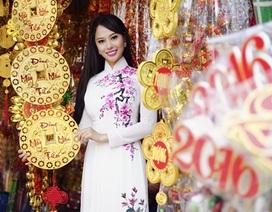 Hoa hậu Điện ảnh 9X thướt tha áo dài đón xuân