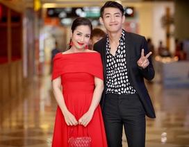 """Ốc Thanh Vân vội vã thay váy sánh đôi cùng """"trai trẻ"""""""