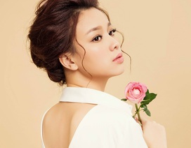 Hoa khôi Trương Tùng Lan đẹp dịu dàng trong sắc trắng