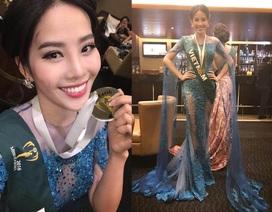 Nam Em giành huy chương Bạc trình diễn trang phục dạ hội