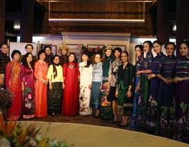 BST áo dài Lan Hương ra mắt phu nhân nguyên thủ các nước tới Hà Nội