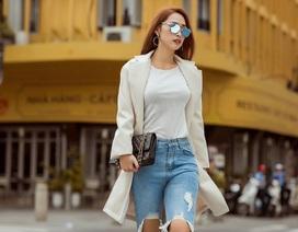 """Hot girl Quỳnh Thy diện style """"chất lừ"""" ra phố ngày se lạnh"""