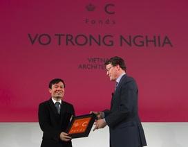KTS. Võ Trọng Nghĩa nhận giải thưởng tại Cung điện Hoàng gia Hà Lan